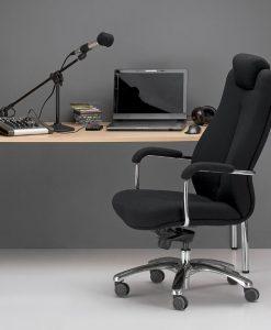 Odinė biuro kėdė sunkiasvoriams iki 150 kg