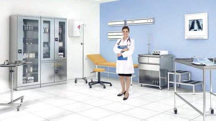 Medicininiai baldai || Baldai gydymo įstaigoms || Metaliniai baldai || metalinė spinta