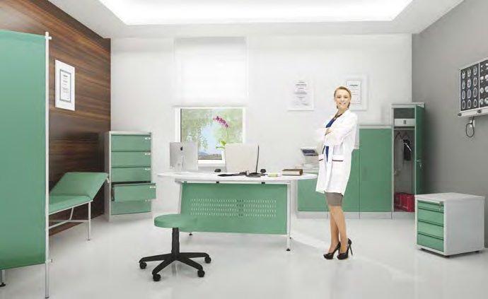 Medicininiai baldai || metaliniai baldai || Ligonio apžiūros kušetė || Kėdžių centras