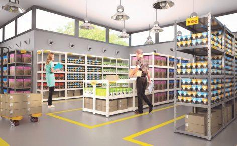 Stelažai prekėms, sandėliams, gamybinėms patalpoms || Buitiniai stelažai || Kėdžių centras