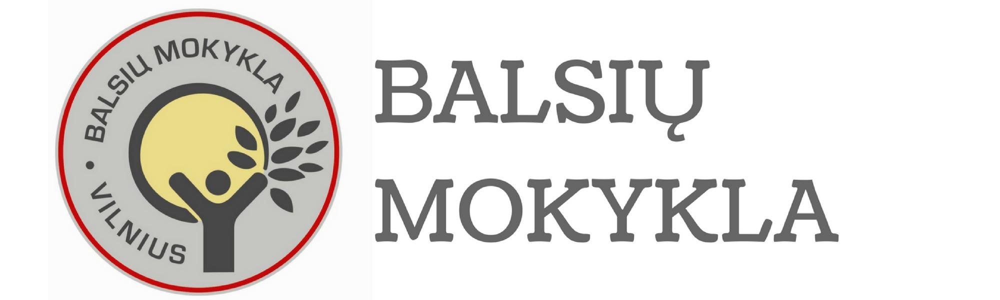balsių mokykla logo
