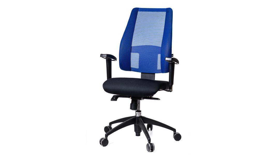 Darbo kėdė su reguliuojamu mechanizmu